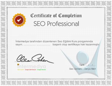 seo kursu sertifikası